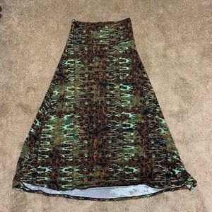 Lularoe cotton maxi skirt